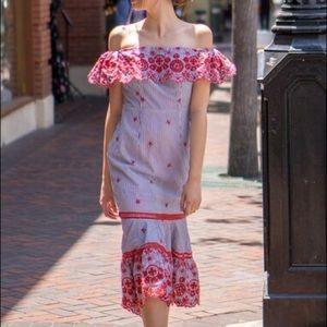 Lilyful Lovely Tango Ruffle Strapless Dress